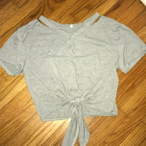 Gray Tied Shirt!